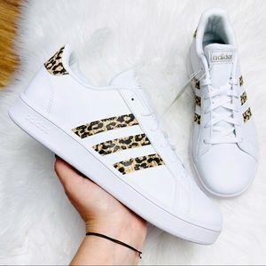 Adidas Originals Grand Court White Animal Print